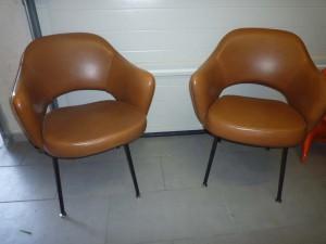 2 fauteuils Conférence Eero Saarinen