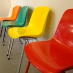 Série de 5 chaises enfants 1960
