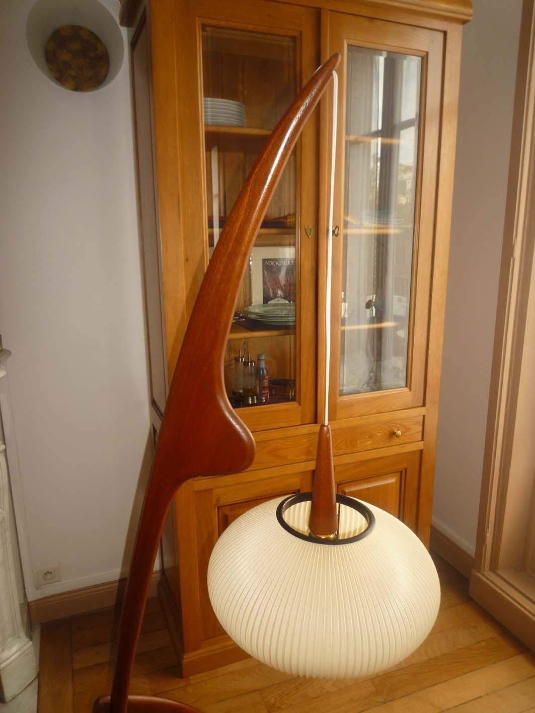 lampadaire mante religieuse de rispal ann es 50 l 39 atelier 50 boutique vintage achat et. Black Bedroom Furniture Sets. Home Design Ideas