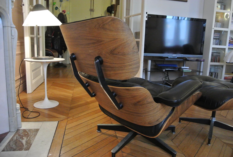 fauteuil lounge chair eames herman miller l 39 atelier 50 boutique vintage achat et vente. Black Bedroom Furniture Sets. Home Design Ideas