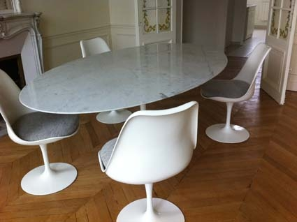Table Tulip Ovale Saarinen Dition Knoll L 39 Atelier 50