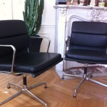 Fauteuils Soft Pad Charles Eames pour Vitra