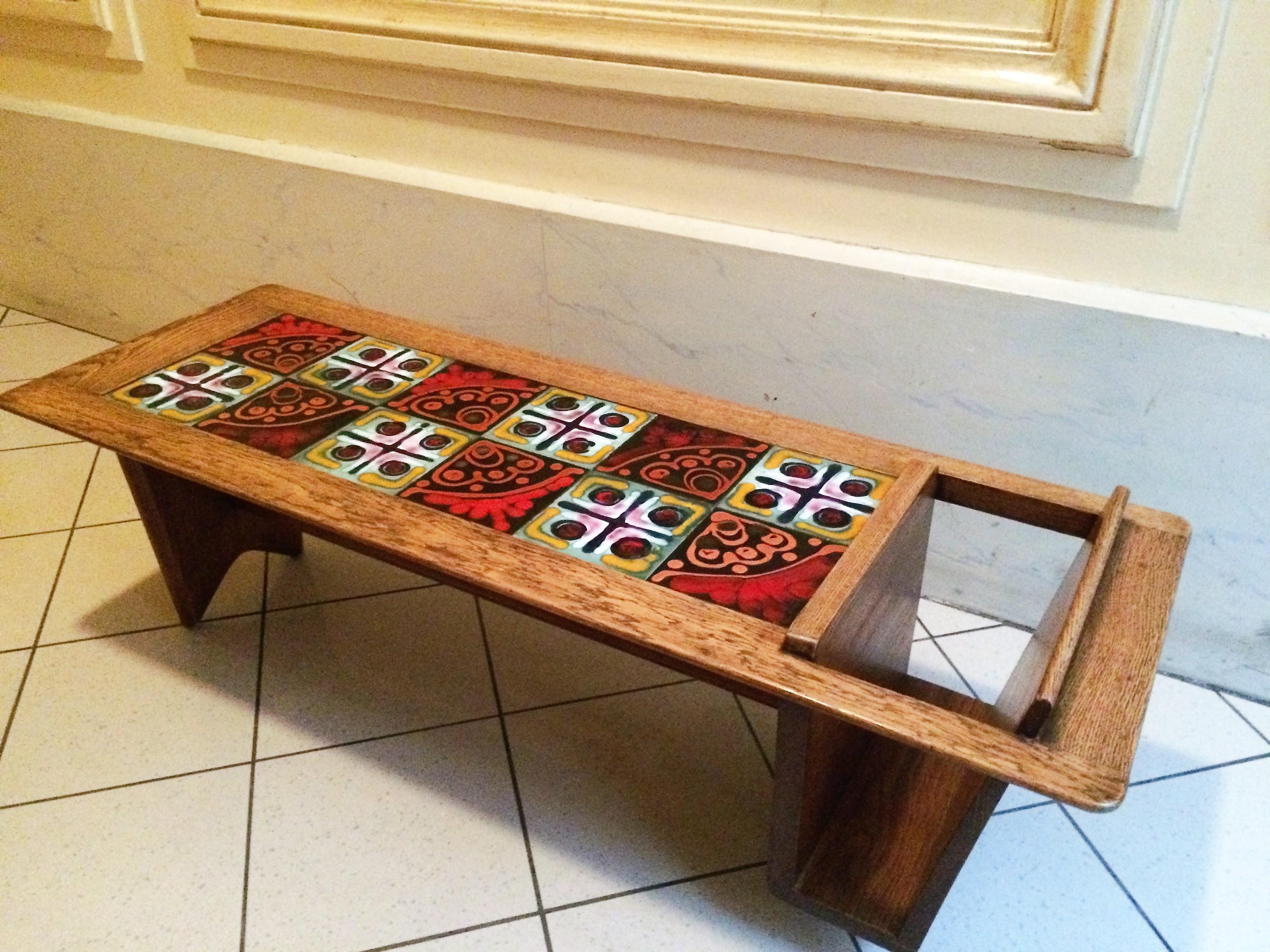 Table de salon guillerme et chambron 1950 l 39 atelier 50 - Table de salon antique ...