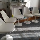 chaises tulipe Saarinen édition Knoll