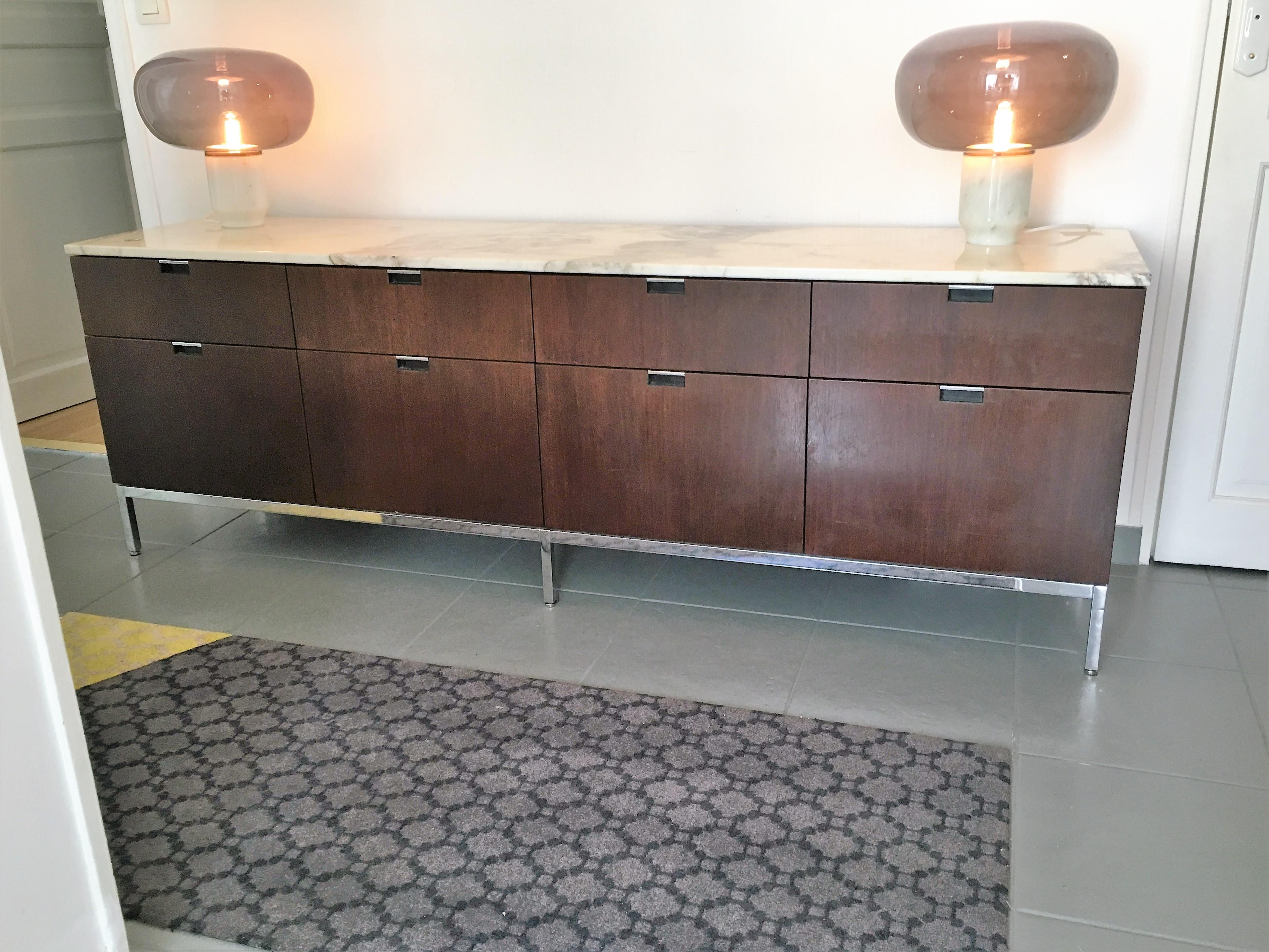 sideboard enfilade design florence knoll circa 1970 l 39 atelier 50 boutique vintage achat et. Black Bedroom Furniture Sets. Home Design Ideas