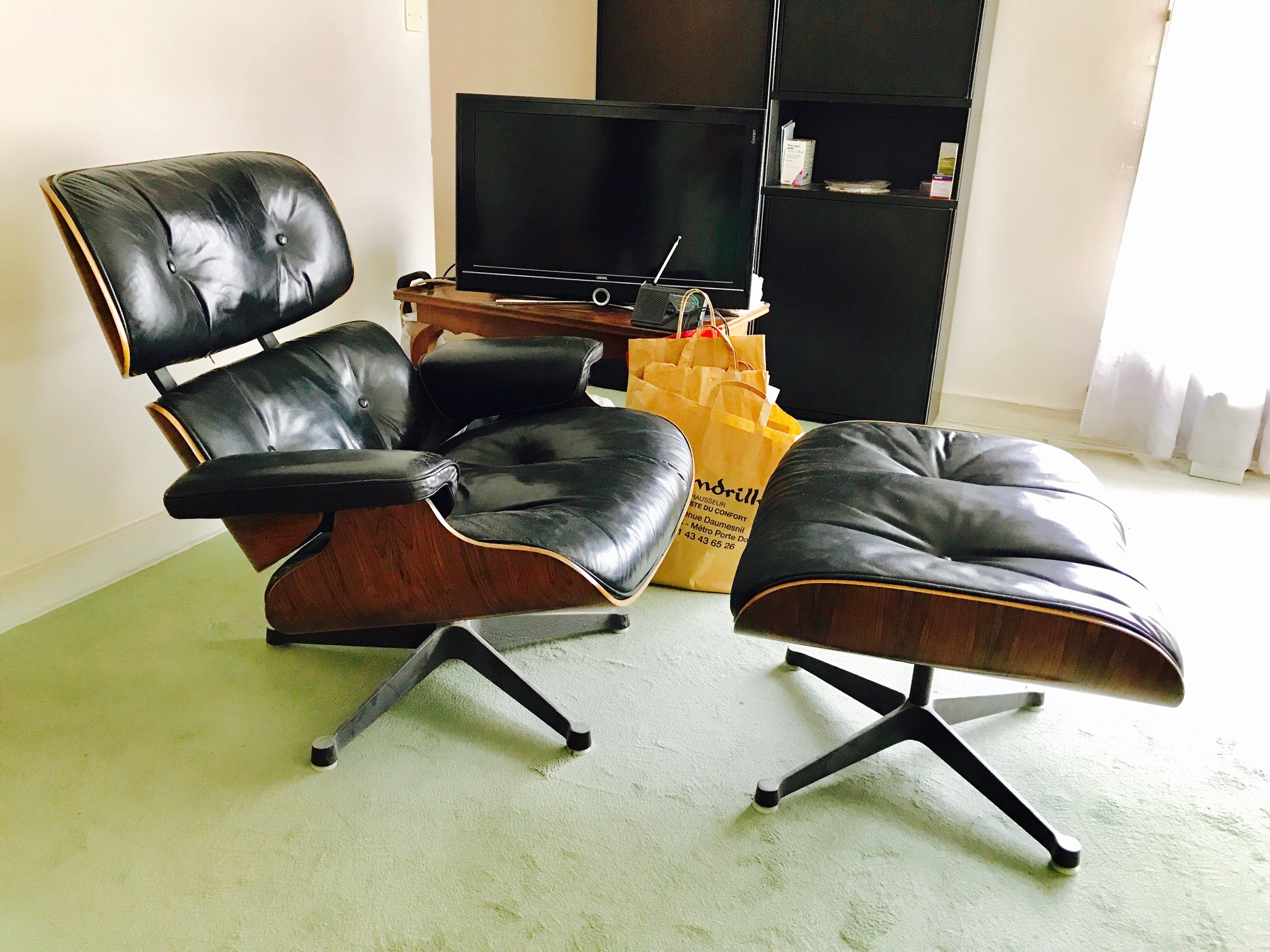 lounge chair charles eames l 39 atelier 50 boutique vintage achat et vente mobilier vintage. Black Bedroom Furniture Sets. Home Design Ideas
