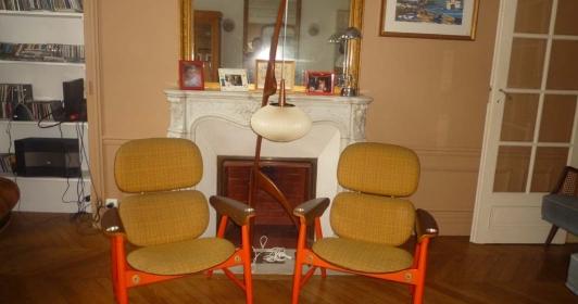 Paire de fauteuils design italien de 1960