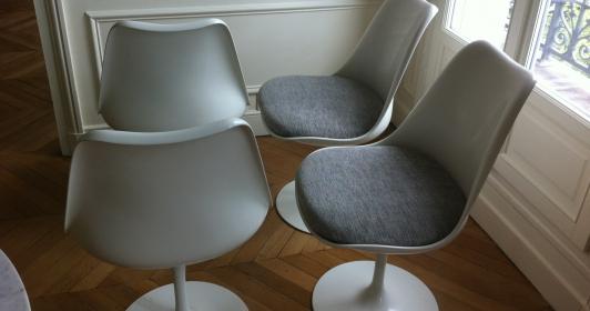 Chaises Saarinen édition Knoll