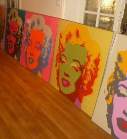 10 sérigraphies Andy Warhol Marilyn Monroe