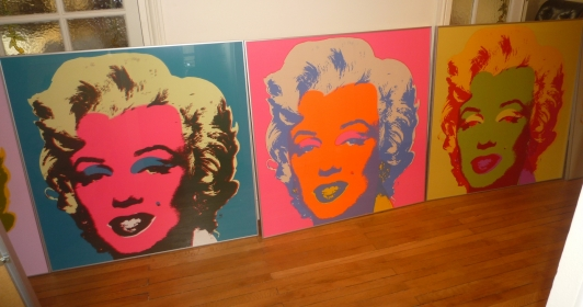 10 sérigraphies Andy Warhol Marilyn Monroe