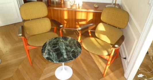 Guéridon Saarinen édition Knoll