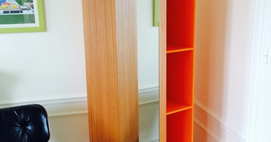Superbe miroir bibliothèque design Atelier Oï