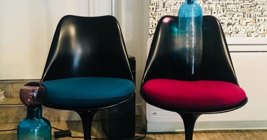Paire de chaises Tulip Saarinen édition Knoll