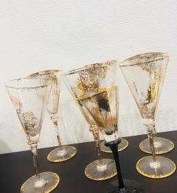 6 verres à pied Van LITH