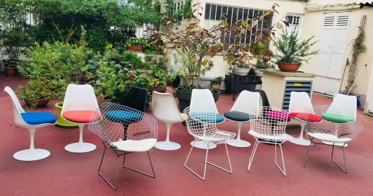 Diamond chairs – Harry Bertoia édition Knoll