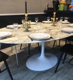 Table Saarinen 198 marbre calacatta