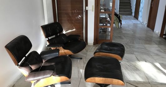 Paire de Lounge Chair Eames Marron