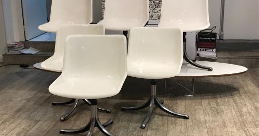 6 Chaises Borsani pour Tecno