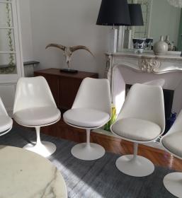 Authentiques chaises tulipe Saarinen édition Knoll