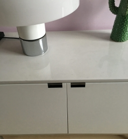 Sibeboard enfilade Florence Knoll  marbre blanc