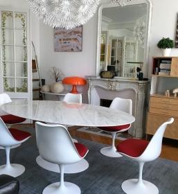 Ensemble table et chaises Saarinen édition Knoll