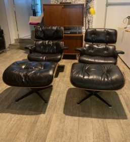 Fauteuils lounges chairs Eames édition Herman Miller