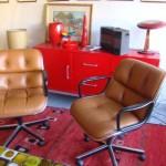 Paire de fauteuils Charles Pollock pour Knoll