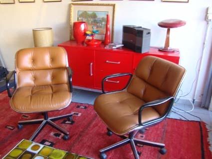 2 fauteuils Charles Pollock pour Knoll