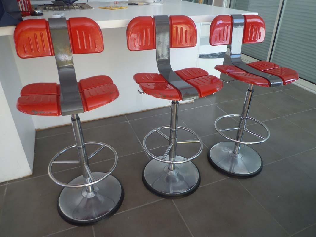 tabourets de bar mirima ann es 70 l 39 atelier 50 boutique vintage achat et vente mobilier. Black Bedroom Furniture Sets. Home Design Ideas