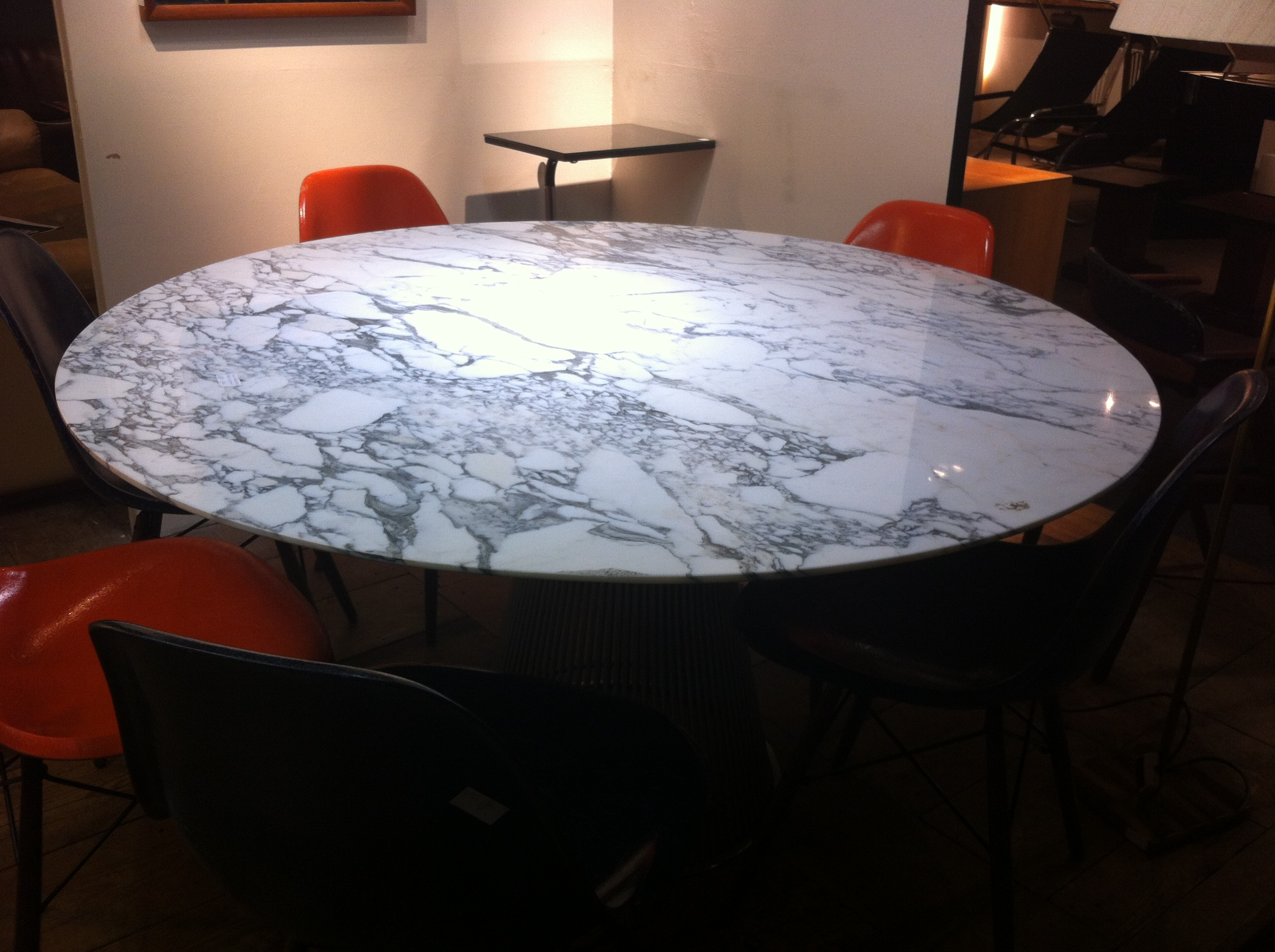 table marbre warren platner pour knoll