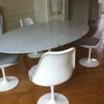 Table tulip ovale Eero Saarinen