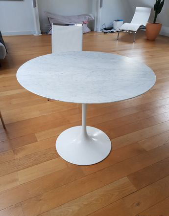 Table tulip Saarinen 91 cm édition Knoll